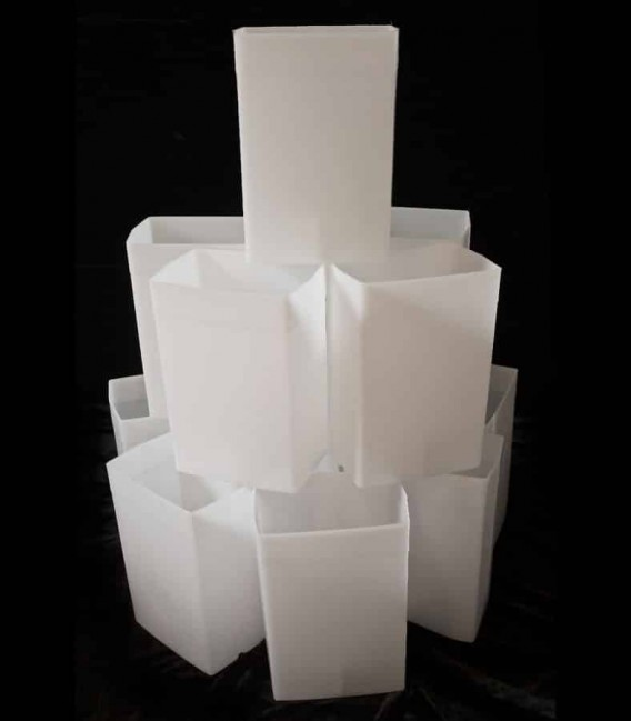Set of 12 White Luminaries