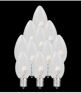 Set of 13 Replacement Clear C7 Light Bulbs