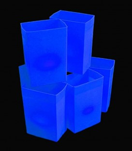 Set of 6 Blue Luminaries