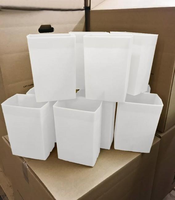 Set of 12 White Factory Flawed Luminaries