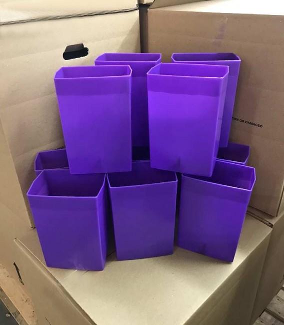 Set of 12 Dark Purple Factory Flawed Luminaries