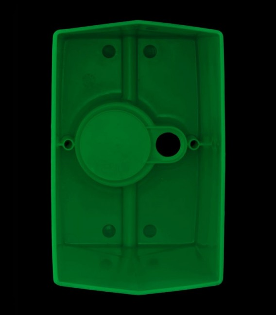 View looking inside Green Luminary