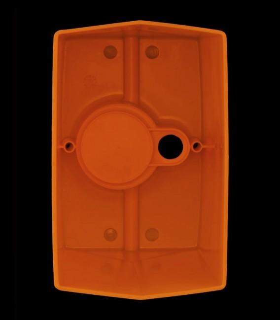 View Inside Orange Luminary