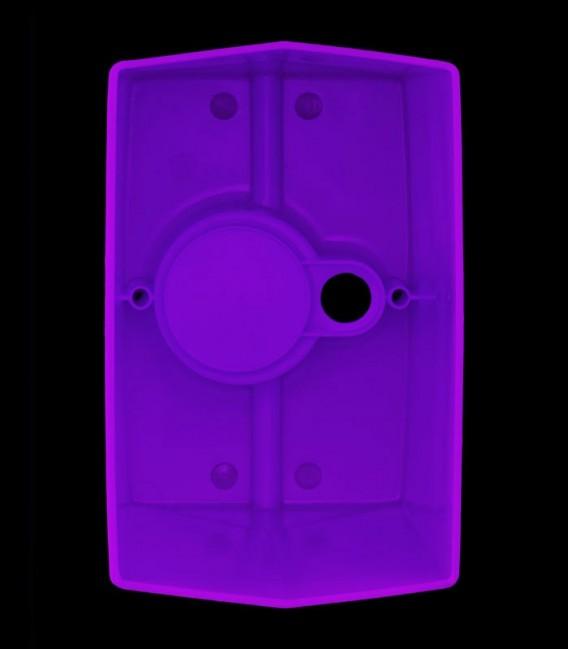 View looking inside Purple Luminary