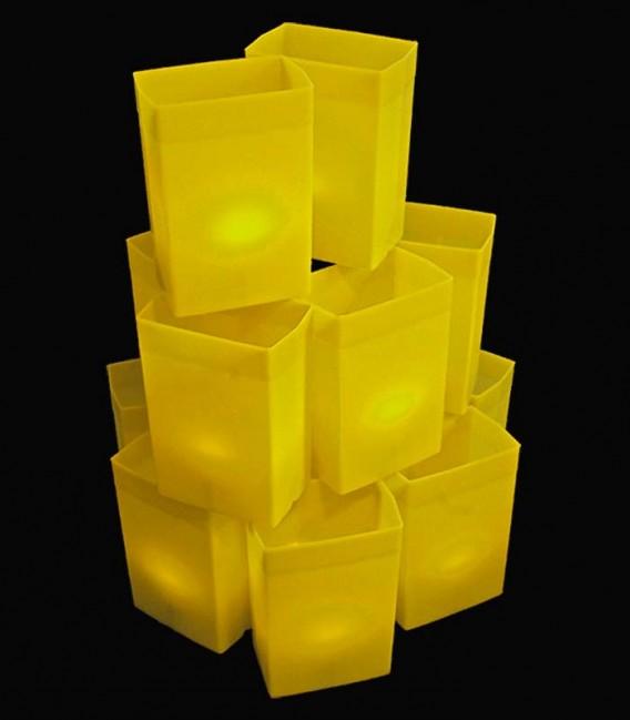 Set of 12 Yellow Luminaries