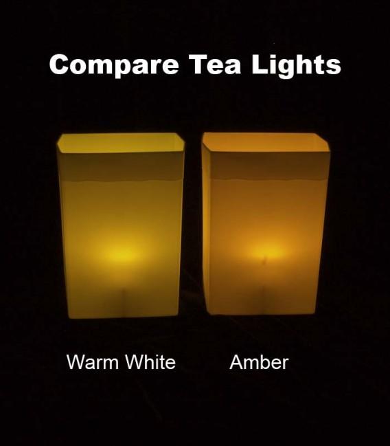 Compare Tea Lights in Yellow Luminary