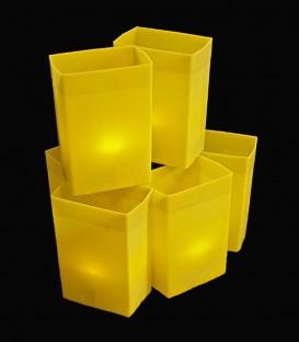 Set of 6 Yellow Luminaries