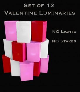 Set of 12 Valentine Luminaries