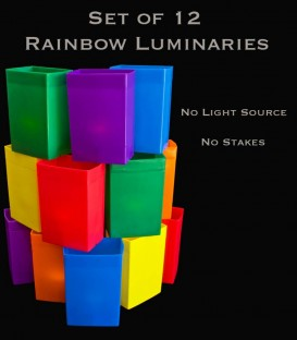 Set of 12 Rainbow Luminaries