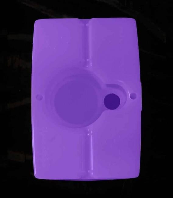 View of Purple Luminary bottom