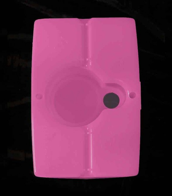 View of Pink Luminary bottom
