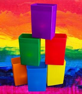 Set of 6 Rainbow Luminaries