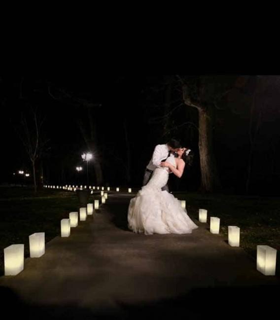 Wedding Luminarias Add Formal Ambiance