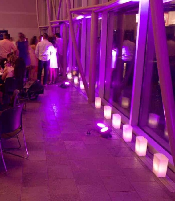 Luminarias at Wedding Reception