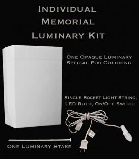 Individual Memorial Luminary Kit