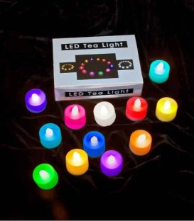 Set of 12 Color-Changing LED Tealights