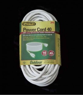 Stanley Power Cord 40 (white)