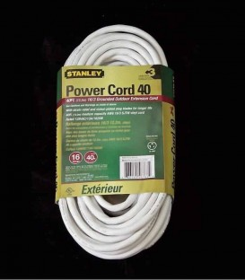 Stanley White Power Cord 40 (back)