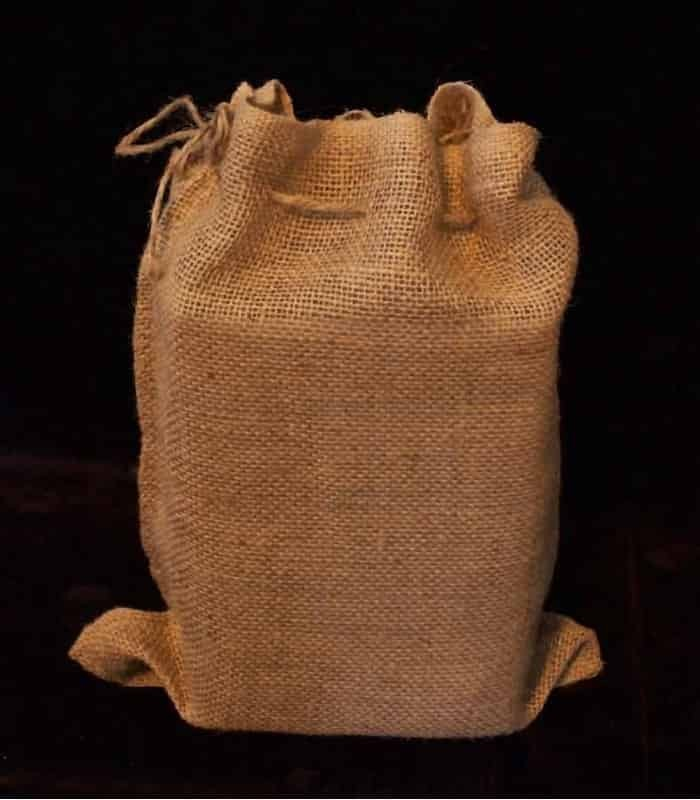 Set of 12 snug fitting burlap bags for Decorative burlap bags
