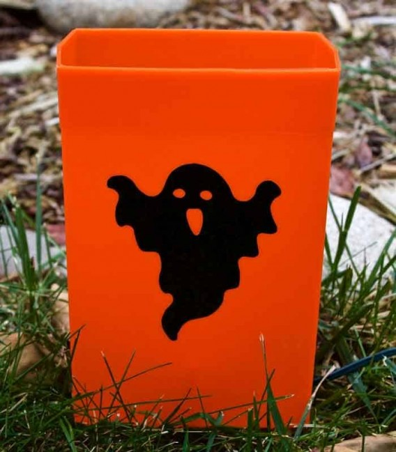 Set of 12 Halloween Luminaries - Ghost