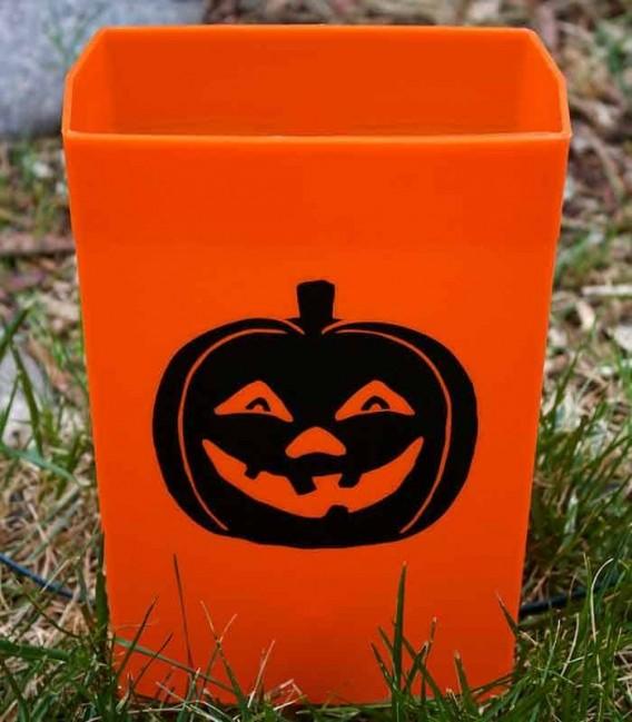 Set of 12 Halloween Luminaries - Pumpkin