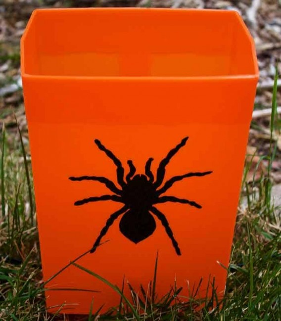 Set of 12 Halloween Luminaries - Spider