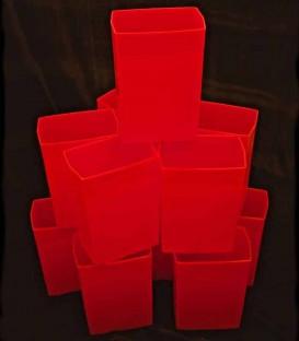 Set of 12 Red Luminaries