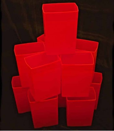 Set of 12 Red Luminaries