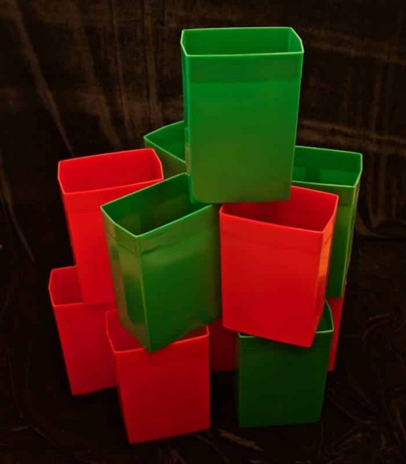 Set of 12 Red/Green Luminaries
