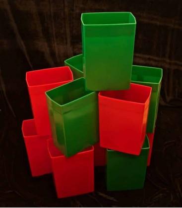 Set of 12 Red/Green Luminaries