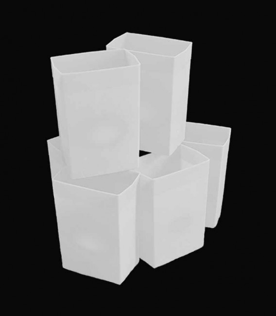 Set of 6 White Luminaries