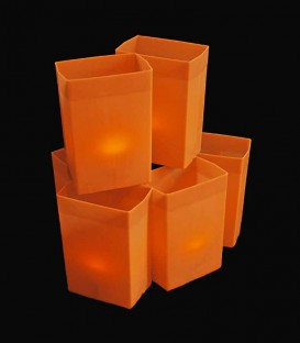 Set of 6 Orange Luminaries