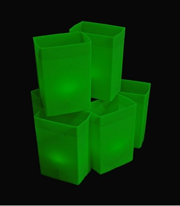 Set of 6 Green Luminaries