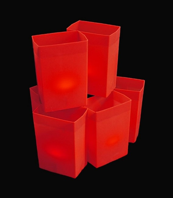 Set of 6 Red Luminaries