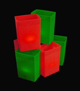 Set of 6 Red/Green Luminaries