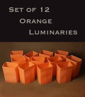 Set of 12 Orange Luminaries