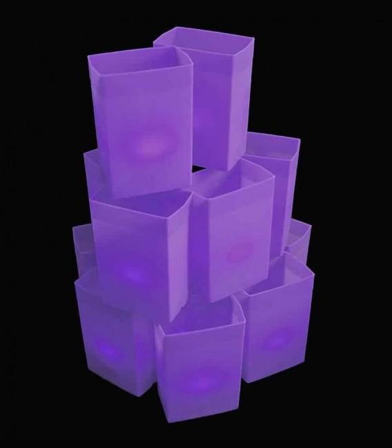 Set of 12 Purple Luminaries