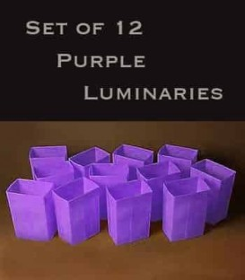 Set of 12 Purple Luminaries