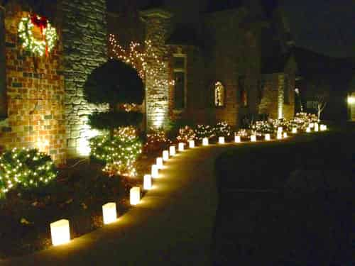 Christmas luminaries at home