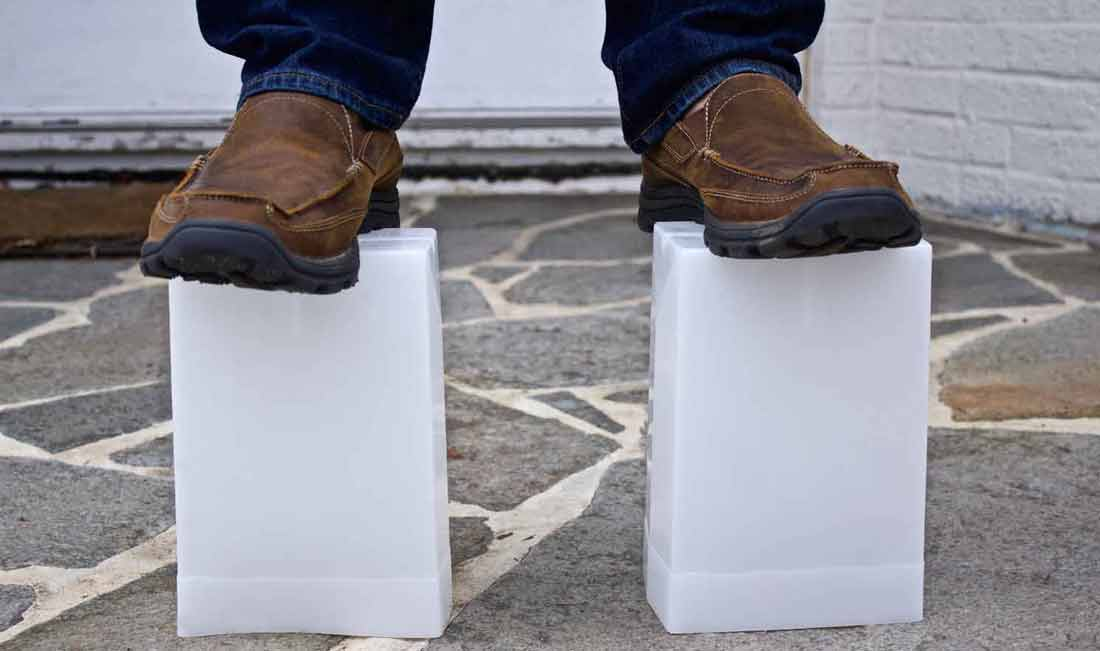 flic luminaries are so strong you can stand on them