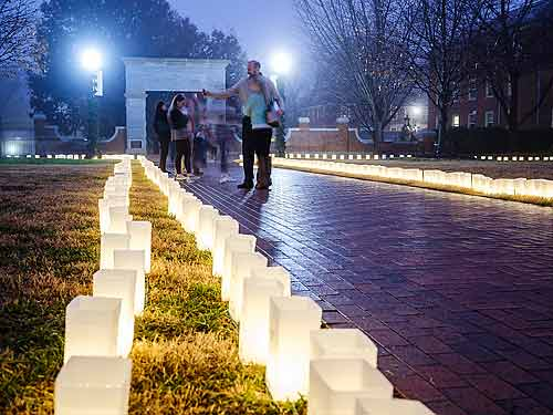 luminary event at Wake Forest University