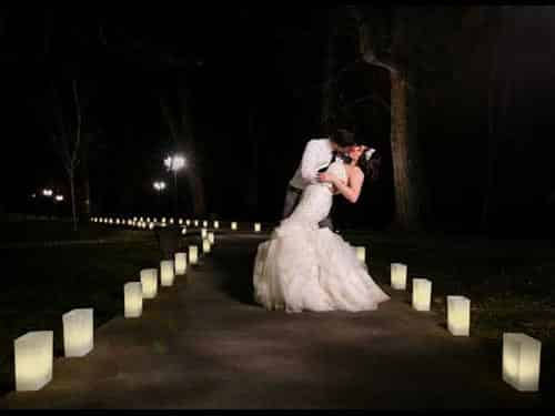 wedding luminarias