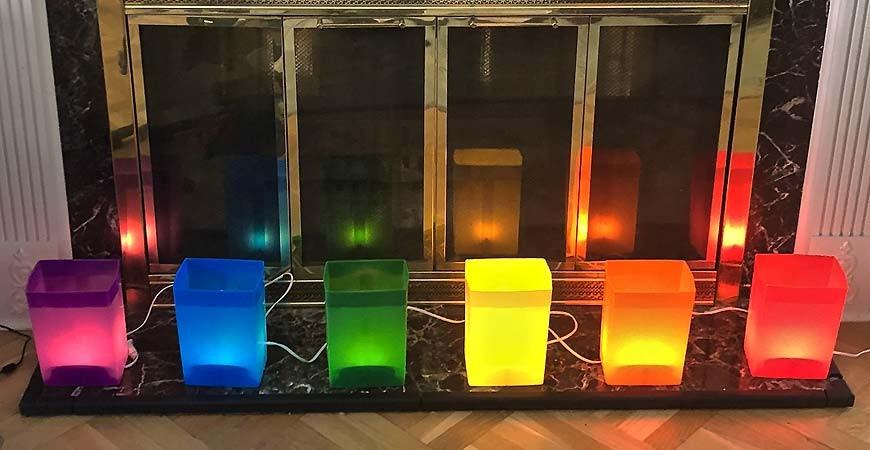 Rainbow Luminaries Take Off!